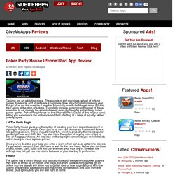 Poker Party House iPhone/iPad App Review