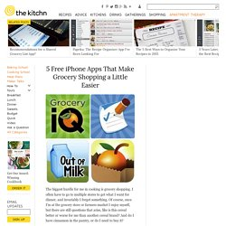 5 Free iPhone Apps That Make Grocery Shopping a Little Easier