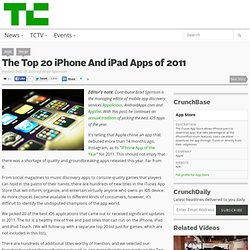 The Top 20 iPhone And iPad Apps of 2011