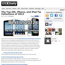 The Top iOS, iPhone, and iPad Tip Collections of 2012