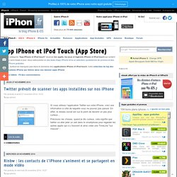 App iPhone et iPod Touch (App Store)