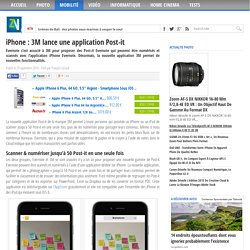 iPhone : 3M lance une application Post-it
