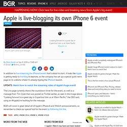 iPhone 6 Live Blog on Apple.com
