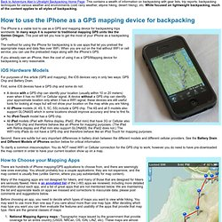 How to use the iPhone 4 as a GPS mapping device for backpacking
