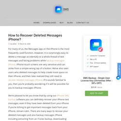 iPhone messages recovery