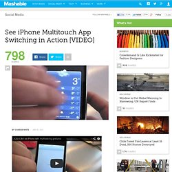 See iPhone Multitouch App Switching in Action [VIDEO]