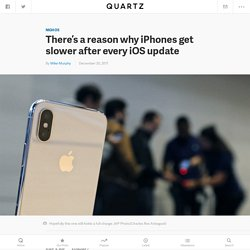 Why your iPhone feels slower after each new iOS operating system upgrade (AAPL)