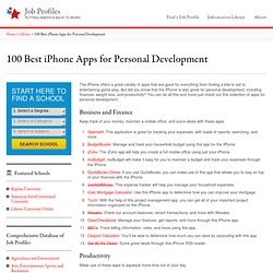 100 Best iPhone Apps for Personal Development