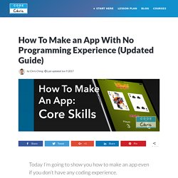 How To Make iPhone Apps With No Programming Experience