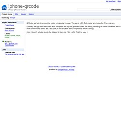 iphone-qrcode - Project Hosting on Google Code