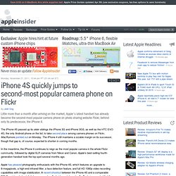 iPhone 4S quickly jumps to second-most popular camera phone on Flickr