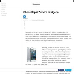 iPhone Repair Service In Nigeria