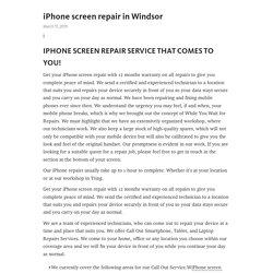 iPhone screen repair in Windsor