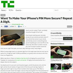 Want To Make Your iPhone's PIN More Secure? Repeat A Digit.