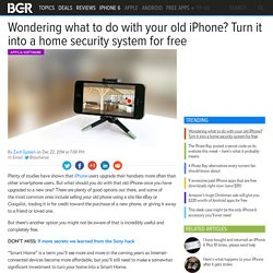 iPhone Home Security App: Old iPhone becomes a free security system