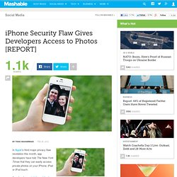 iPhone Security Flaw Gives Developers Access to Photos [REPORT]