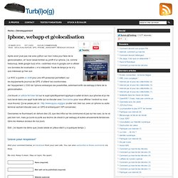 Archives du blog » Iphone, webapp et géolocalisati