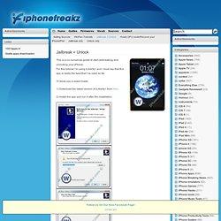 Jailbreak + Unlock - Page - iPhoneFreakz