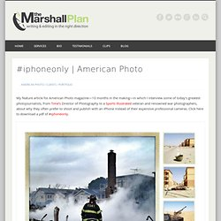 #iphoneonly - The Marshall Plan
