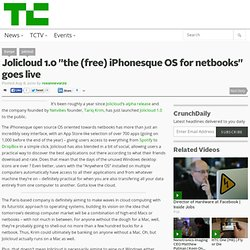 "Jolicloud 1.0 ""the (free) iPhonesque OS for netbooks"" goes live"
