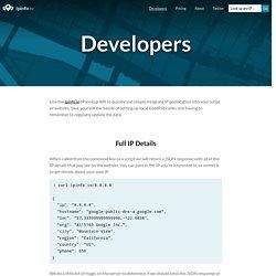 IP Geolocation API Documentation - ipinfo.io