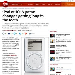 iPod at 10: A game changer getting long in the tooth