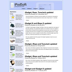 iPod Software Specialists - Making the best, better | Main / HomePage