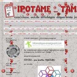 IPOTÂME ....TÂME: CP/CE1 : jeu maths TRICUBO