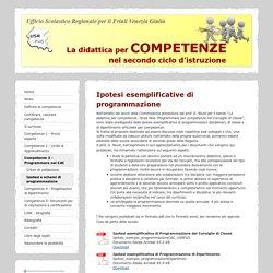 Ipotesi e schemi di programmazione - competenzesecondociclousrfvg