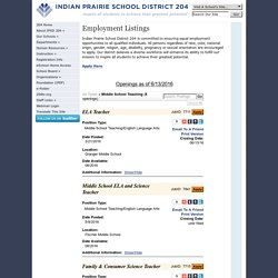 IPSD 204: Employment Listings