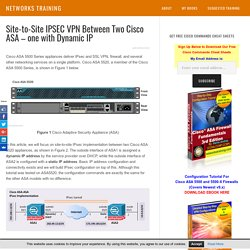 Site-to-Site IPSEC VPN Between Two Cisco ASA – one with Dynamic IP