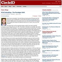 IPv6 Subnetting - The Paradigm Shift