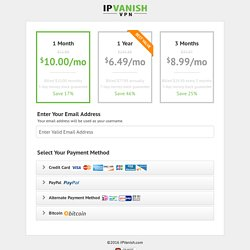 IPVanish Pricing Plans - #1 VPN in the World - Join Now!