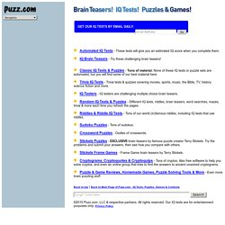IQ Tests, Brain Teasers & Puzzles