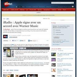 iRadio : Apple signe avec un accord avec Warner Music