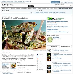 Iranian Herb and Walnut Frittata ??? Recipes for Health