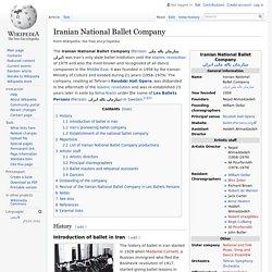 Iranian National Ballet Company