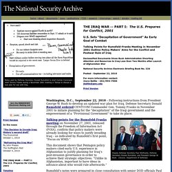 PART I:The U.S. Prepares for Conflict, 2001