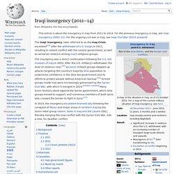 Iraqi insurgency (2011–14)