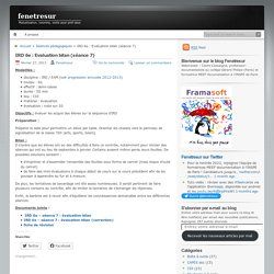 IRD 6e : Evaluation bilan (séance 7)