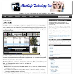 iRedSoft Technology Inc – BatchImage.com » JBatch It
