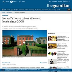 Ireland's house prices at lowest levels since 2000 | Business