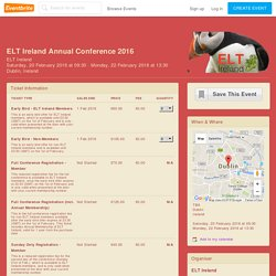 ELT Ireland Annual Conference 2016 Tickets, Dublin