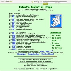 Ireland's History in Maps - Irish History, Geography and Genealogy