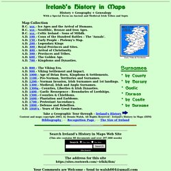 Ireland's History in Maps - Irish History, Geography and Genealogy