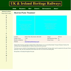 UK & Ireland Heritage Railways - Heaton Park Tramway
