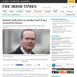 Ireland 'will insist on similar deal' if any secured by Greece