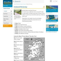 Ireland Itinerary: Where to Go in Ireland by Rick Steves