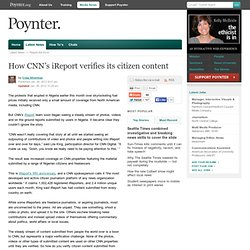 How CNN's iReport verifies its citizen content