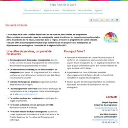 En santé à l'école - Ireps Pays de la Loire